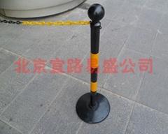 可移动链杆反光警示柱