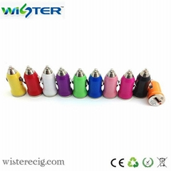 portable mini car charger,11 colors for choice,suitable for all the cars