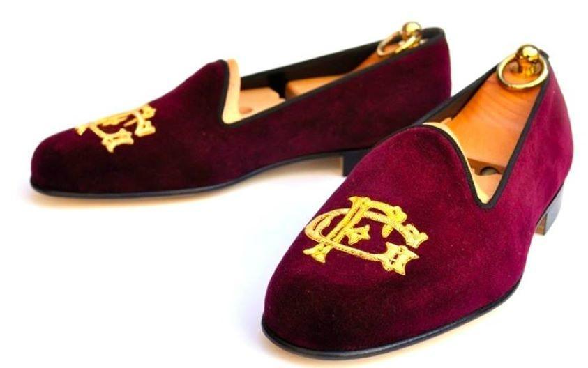 Monogrammed Velvet Slippers 3