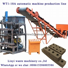 WT1-10A interlocking brick machine for sale