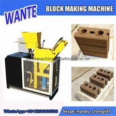 WT1-25 interlocking clay brick making machine