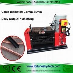 cable stripping machine for scrap copper recycling