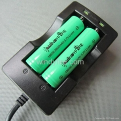 18650 charger for 2 pcs 18650 Battery Charger with two led display