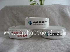 镁质强化瓷圆形方形10cm烟灰缸