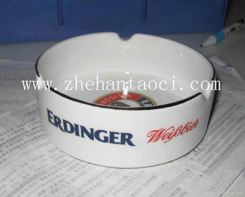 镁质强化瓷圆形方形10cm烟灰缸 3