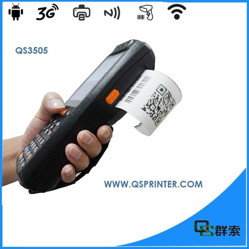 Mobile data collector terminal portable thermal printer qr