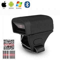 Portable Bluetooth PDF417 QR code scaner Ring 2D Scanner Barcode Reader For IOS