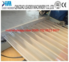 PVC corrugated roofing sheet extrusion machine