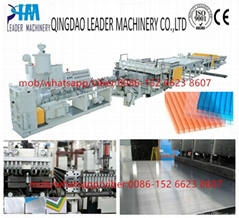 PC/PP hollow sheet extrusion machine