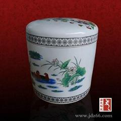 廠家批發手繪陶瓷骨灰罐