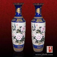 白鳥朝鳳陶瓷大花瓶