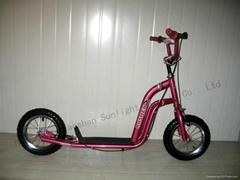12 Inch Hot Sale Steel Big Wheel Kids Push Kick Scooters