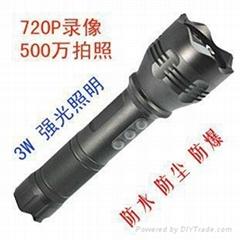 防暴強光LED錄像手電筒