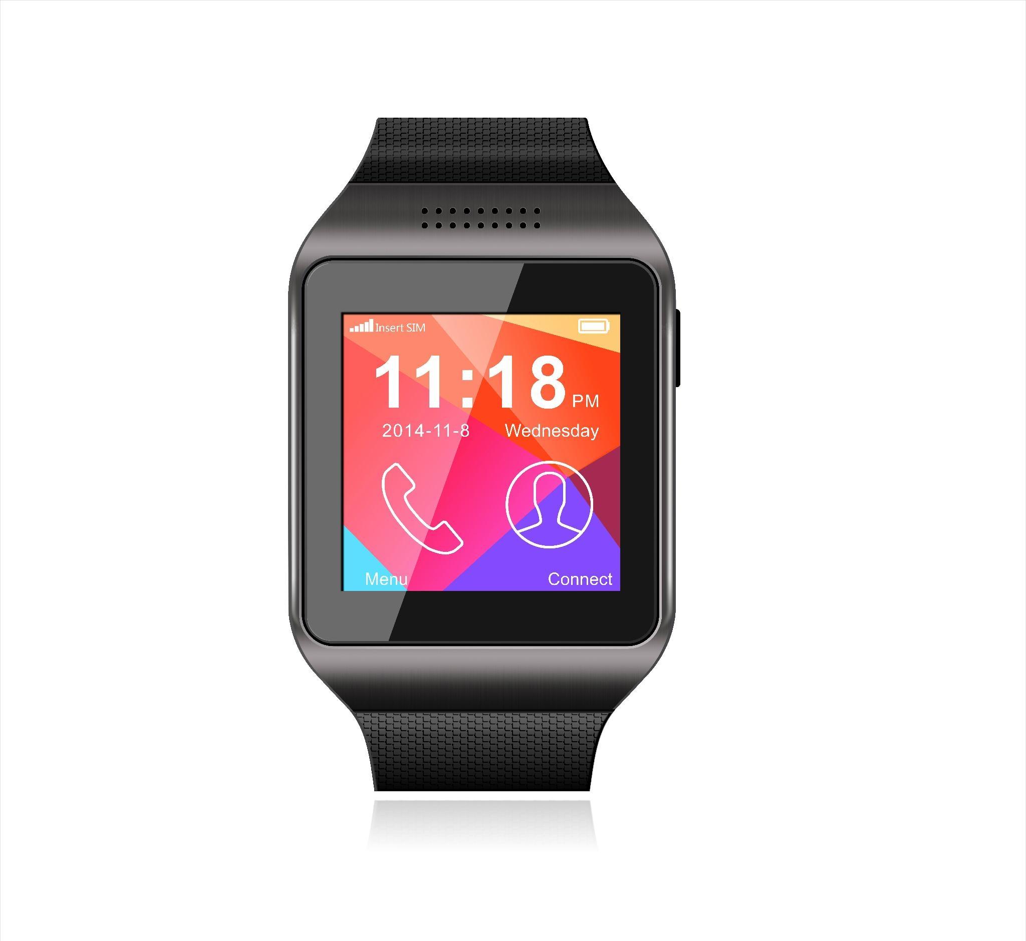 新款智能手表 可插SIM/TF卡带摄像头多功能智能穿戴蓝牙手机手表 1