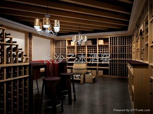 长沙实木红酒架 1