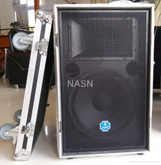 Single 15'' Full Range Outdoor Stadium Loudspeaker,Flight Case Integration