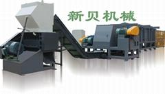 供應新貝機械臥式XB-W600型大口徑PE波紋管材撕碎機