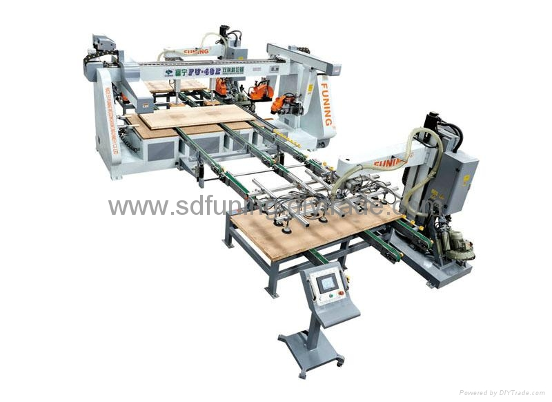 Production line of Double-end  Cutting Saw
