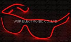Sound activated Fashion EL wire sunglasses