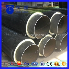 large diameter pe jacket pre insulated pipe with pu foamed insulated steel pipe
