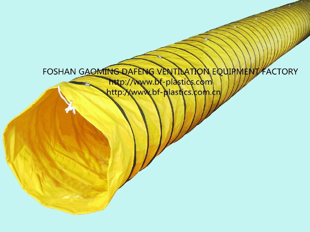 Pvc reinforced spiral ventilation mining duct bf