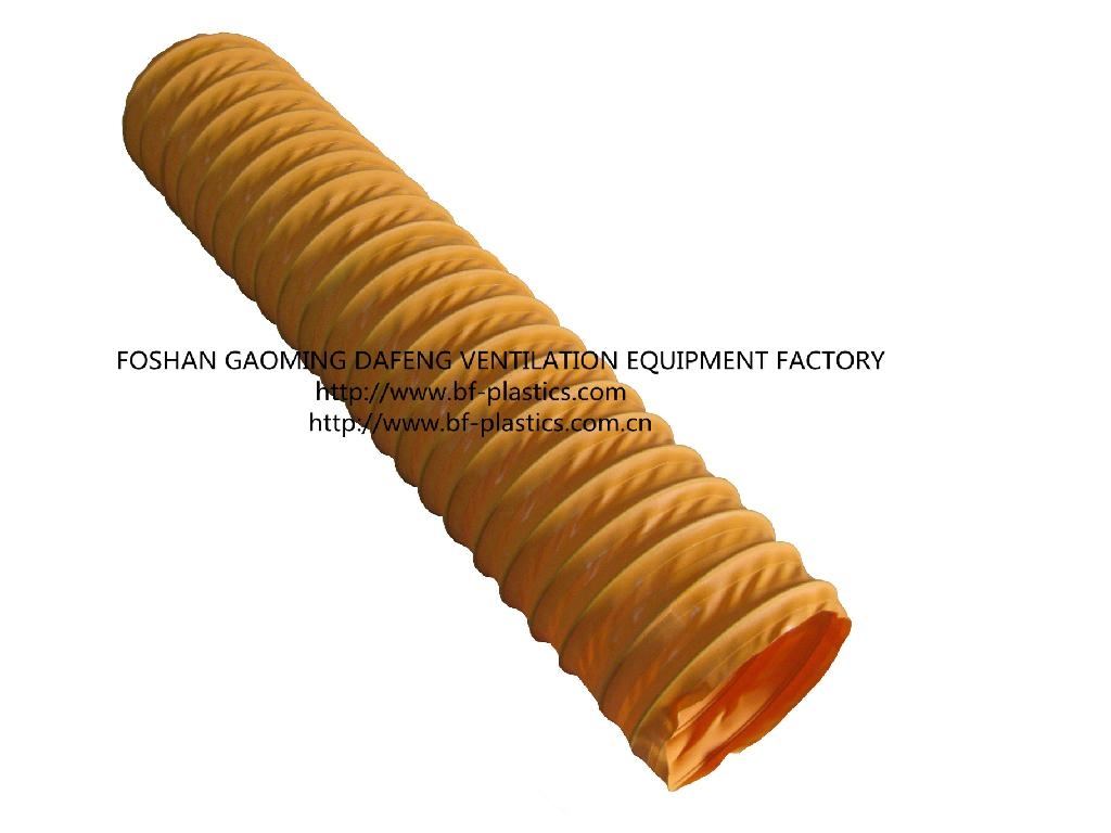 Pvc flexible ventilation vacuum duct bf dafeng