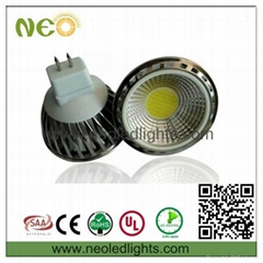 5W COB 60degrees CE ROHS SAA UL led spotlight GU10/E27/E14/MR16