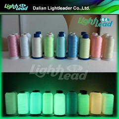 Fluorescent Phosphor embroidery or sewing thread