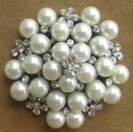 Pearls rhinestone wedding brooch