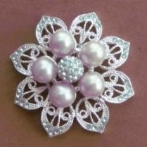 Silver flower pearls rhi