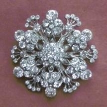 Shiny crystals rhinestone brooch