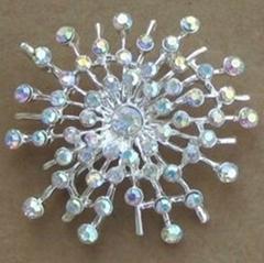 Diamond crystal brooch