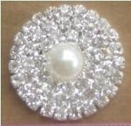 Crystal pearl rhinestone embellishments