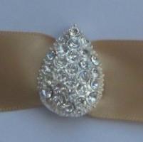 Rhinestone  teardrop buckles in silver
