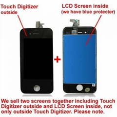 Good quality iPhone 4S LCD touch display+ Screen Digitizer +Frame