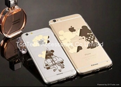 High quality transparent ultra-thin iphone6 iphone6 plus Disney case factory