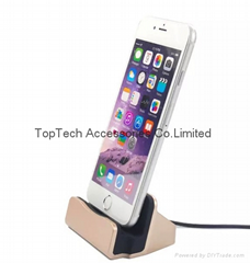iphone 6s/6/5s/5 USB charger dock station charging dock USB Cable-factory offer