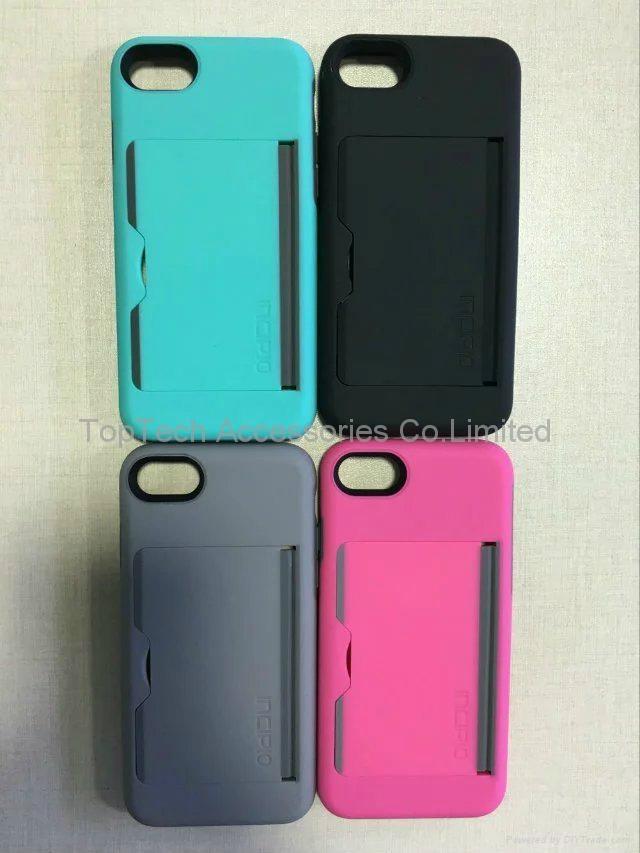 incipio stowaway credit card case for iphone 7  iphone 7 plus