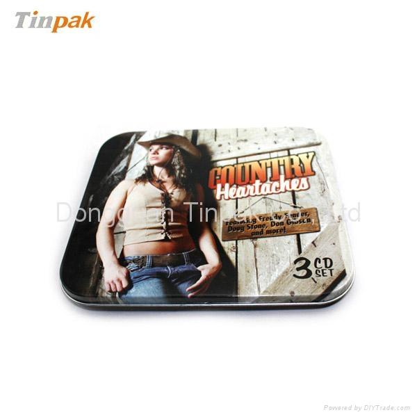 rectangular CD tin cases suppliers 1