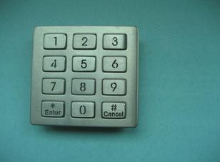 防水防尘不锈钢LED金属键盘 1