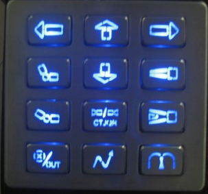 防水防尘不锈钢LED金属键盘 2