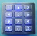 防水防尘不锈钢LED金属键盘 3
