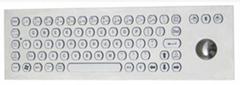 PC轨迹球金属键盘