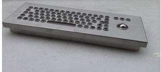 防水防尘PC台式轨迹球金属键盘 1