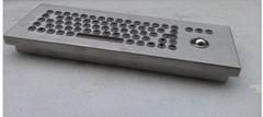 防水防尘PC台式轨迹球金属键盘