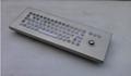 防水防尘PC台式轨迹球金属键盘 3