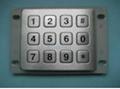 防水防尘不锈钢工业金属键盘