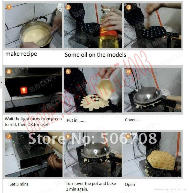 Hot Sale 110v 220v Egg Waffle Maker Egg Puff  Machine 6