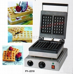 square type of waffle maker, Snacks