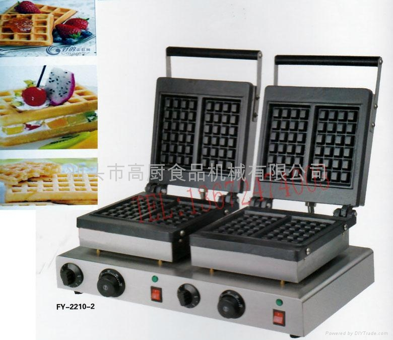 Electric double-end for waffle maker , square waffle machine, waffle grill/ 1